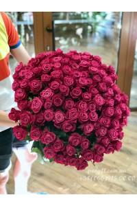 101 розовая роза Шангрила 60 см