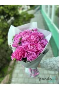 15 пионов розовых