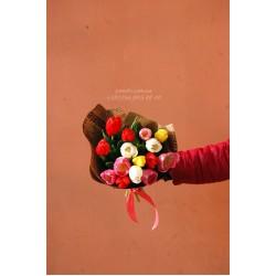 15 тюльпанов микс 4 цвета