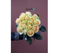 17 кремовых роз 60 см