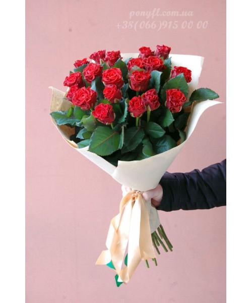 19 красных роз Эль торо 50 см