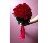 19 красных роз Гран При 70 см