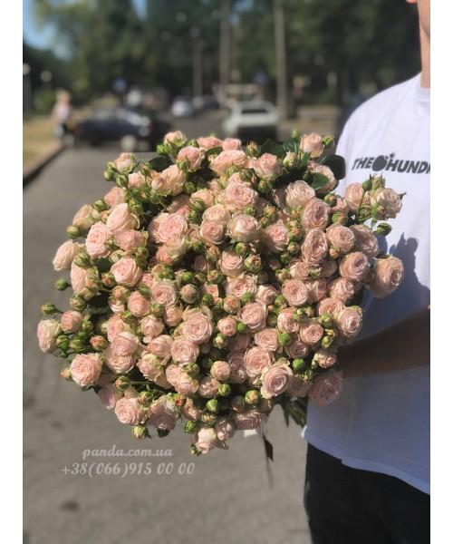 19 кустовых роз 80 см