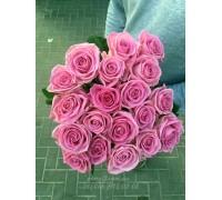 19 розовых роз Аква 70 см