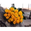 19 желтых роз 80 см