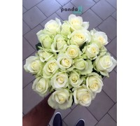 21 белая роза 60 см