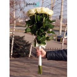 21 белая роза 70 см
