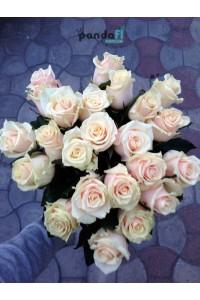 21 бежевая роза 50 см
