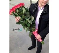 21 коралловая роза 90 см