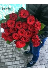 21 красная роза 70 см