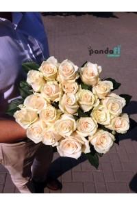 21 кремовая роза 90 см