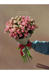 21 кустовая роза 50 см