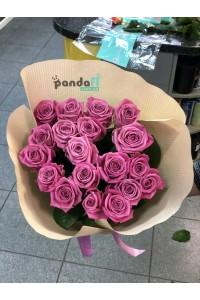 21 розовая роза Аква 60 см