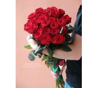 25 красных роз 80 см