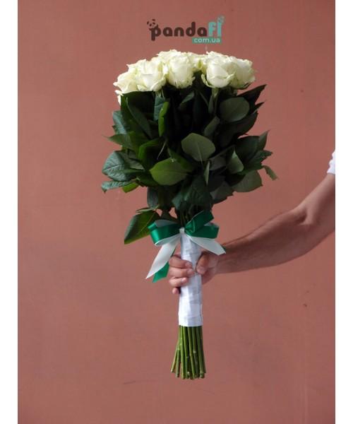 31 белая роза 70 см