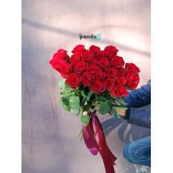 31 красная роза 80 см