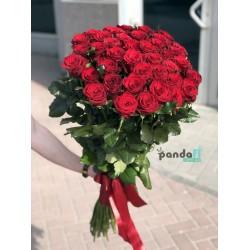31 красная роза 90 см