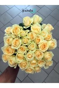31 кремовая роза 60 см