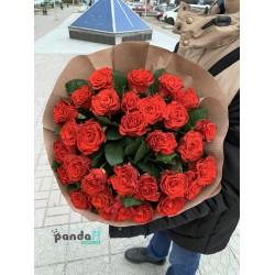 33 красные розы Эль Торо 60 см