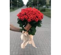 35 коралловых роз 60 см