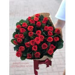 35 красных роз Эль Торо 60 см