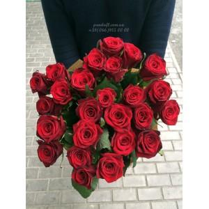 35 красных роз 60 см
