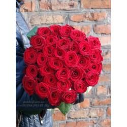 35 красных роз 70 см
