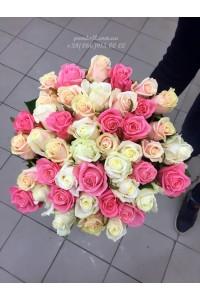 35 роз микс 3 цвета 60 см