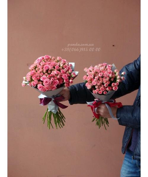 39 и 19 кустовых роз