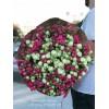 39 кустовых роз розовых 65 см