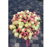 39 роз микс обычной и кустовой