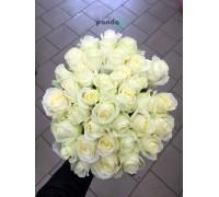 41 белая роза 60 см