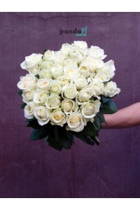 41 белая роза 70 см