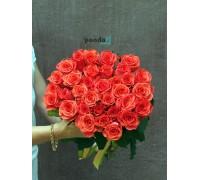 41 коралловая роза 70 см