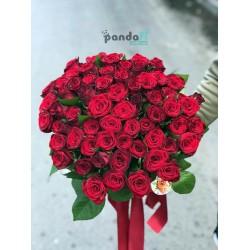 45 красных роз 60 см