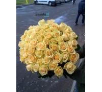 45 кремовых роз 70 см