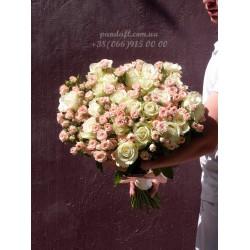 45 роз микс обычной и кустовой