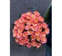 45 розовых роз Мисс Пигги 60 см