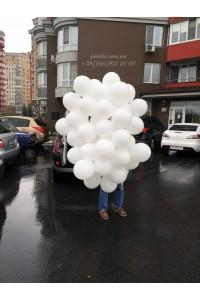 51 белый гелиевый шар