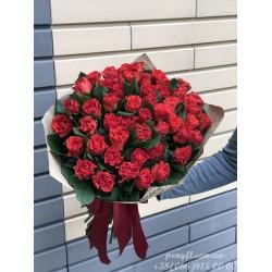 51 красная роза Эль Торо 70 см