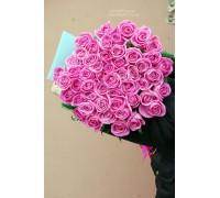 51 розовая роза Аква 60 см