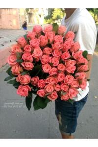 51 розовая роза Карина 100 см