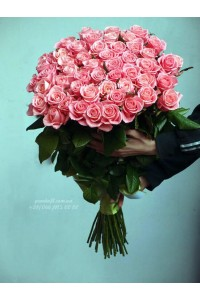51 розовая роза Карина 90 см