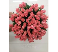 51 розовая роза Карина 60 см