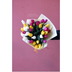 51 тюльпан микс 3 цвета