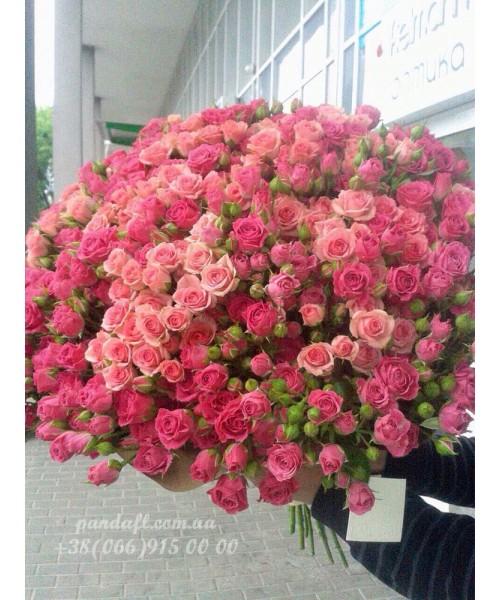 75 кустовых роз 80 см
