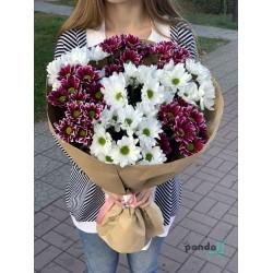 9 хризантем