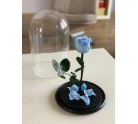 Голубая роза в колбе