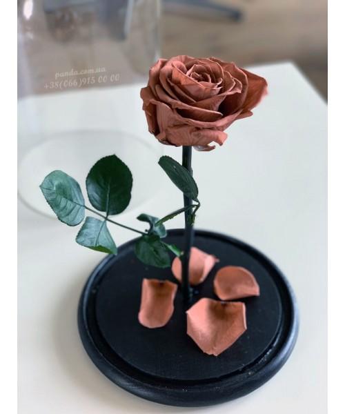Карамельная роза в колбе