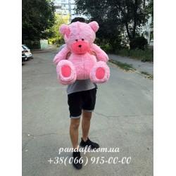 Мишка 100 см розовый с латкой